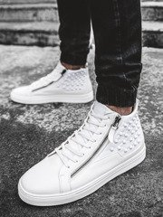 Baskets montantes Homme Blanc OZONEE G/278