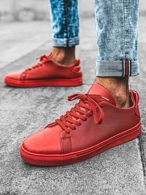 Baskets montantes Homme Rouge OZONEE G/461