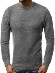 OZONEE BL/M5605 Pullover Homme Gris