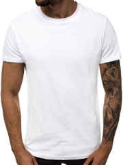 T-Shirt Homme Blanc OZONEE JS/S02