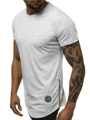 T-Shirt Homme Gris clair OZONEE O/1255