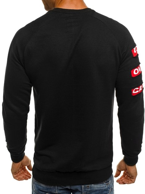 ATHLETIC 0888B Sweatshirt Homme Noir
