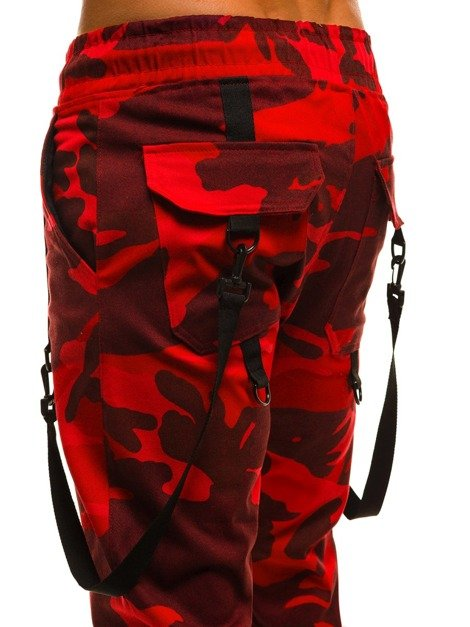 ATHLETIC 0920 Pantalon Jogger Homme Rouge-Camo