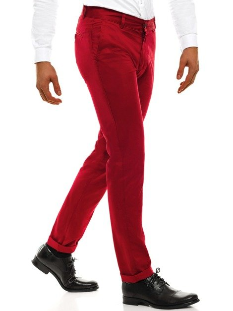 BLACK ROCK 204 Pantalon Chino Homme Rouge