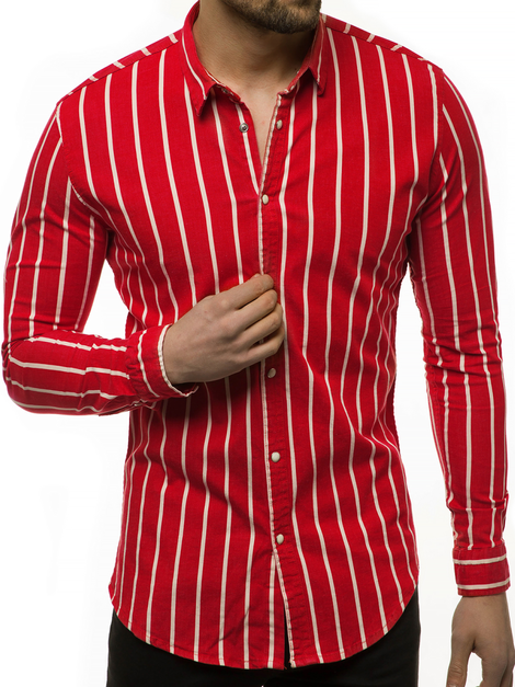 Chemise Homme Rouge OZONEE R/1494