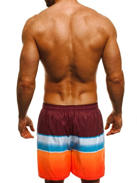 HOT RED Y732 Short Homme Bordeaux