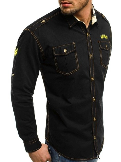 NORTH 2504 Chemise Homme Noir