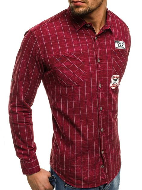 NORTHIST 2505 Chemise Homme Rouge
