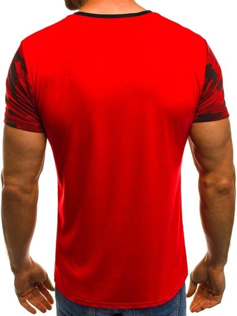 OZONEE JS/5023 T-Shirt Homme Rouge