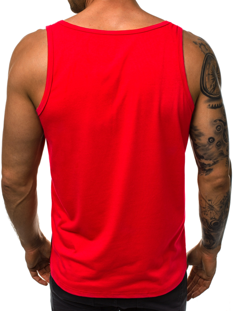 OZONEE JS/SS100733 T-Shirt Homme Rouge