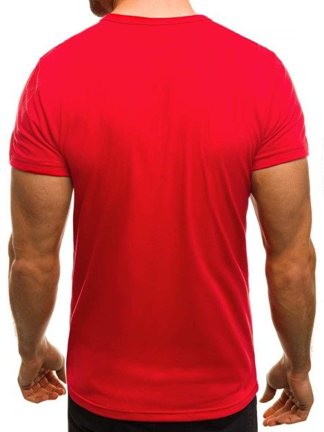 OZONEE JS/SS351 T-Shirt Homme Rouge