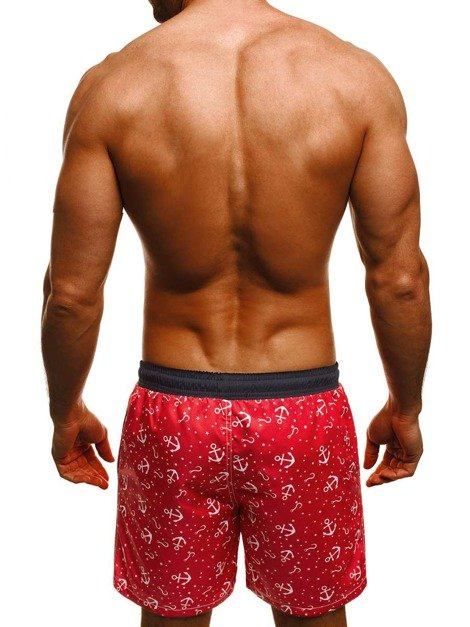 OZONEE MAD/2368 Short Homme Rouge