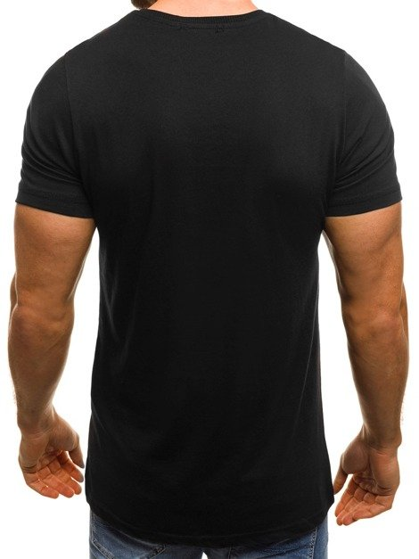 OZONEE MAD/2479 T-Shirt Homme Noir