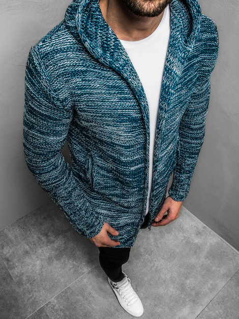 Pullover Homme Bleu OZONEE O/1734Z