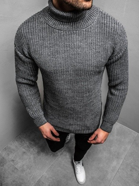 Pullover Homme Gris OZONEE MAD/4368Z