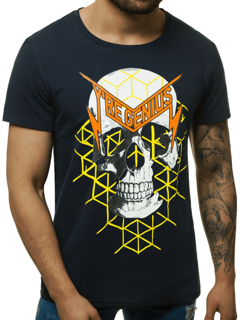 T-shirt manches courtes Shirt Motif Col Rond Imprimé Messieurs OZONEE js//ks2104z