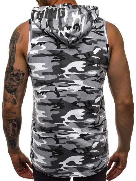 T-Shirt Homme Camo Gris OZONEE O/1283