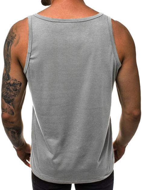 T-Shirt Homme Gris OZONEE JS/SS100766