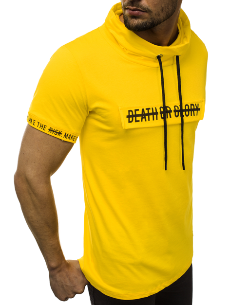 T-Shirt Homme Jaune OZONEE MR/19109