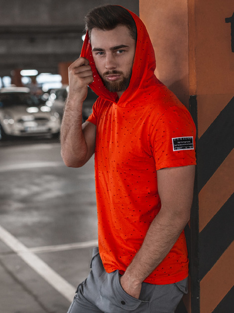 T-Shirt Homme Orange OZONEE MAD/3069