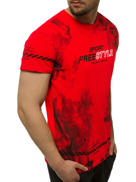T-Shirt Homme Rouge OZONEE JS/SS11003