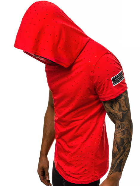 T-Shirt Homme Rouge OZONEE MAD/3069