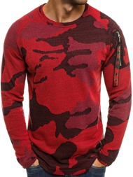 MECHANICH 0938 Pullover Homme Rouge